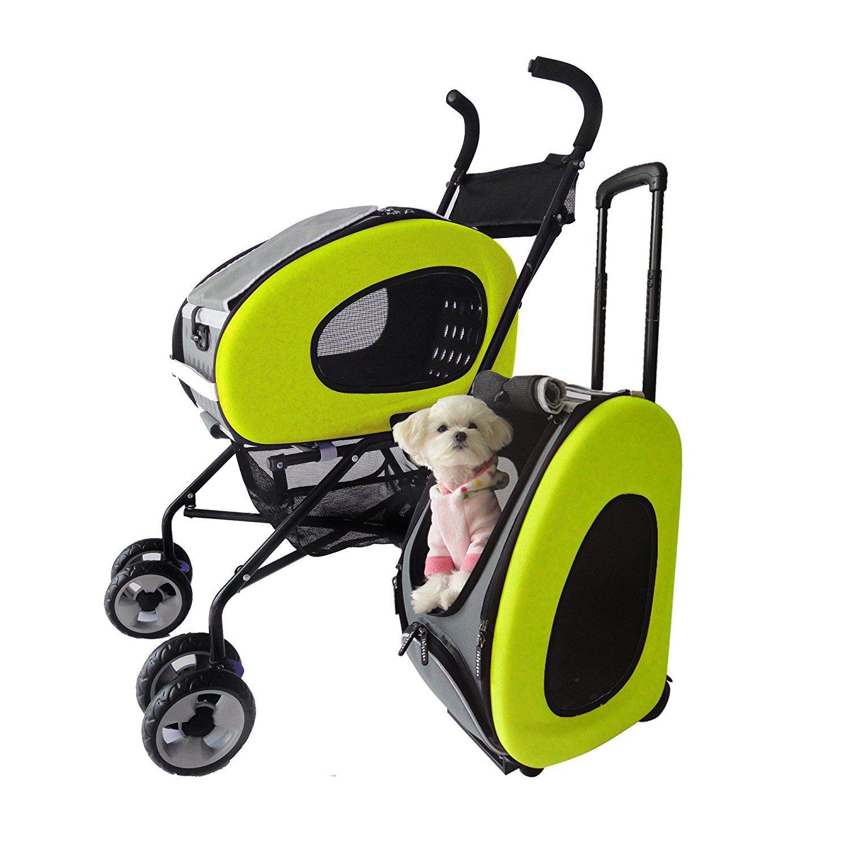 b951ba577 Buggy para mascota plegable, cochecito, cochecito para perros y gatos.:  Amazon.es: Productos para mascotas