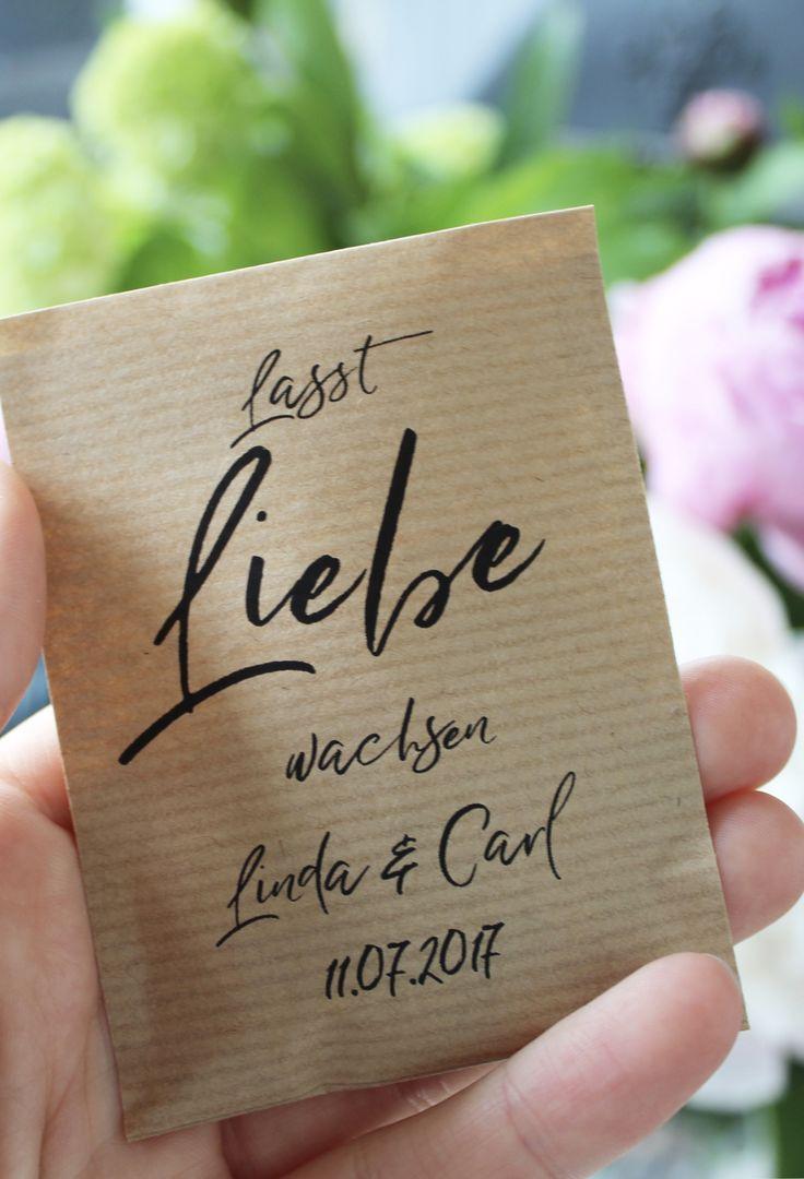 Gastgeschenk Hochzeit Blumensamen – trendclub