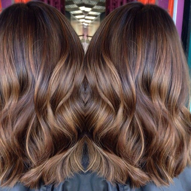 Rich toffee brown with butterscotch swirls balayage for Tartaruga californiana