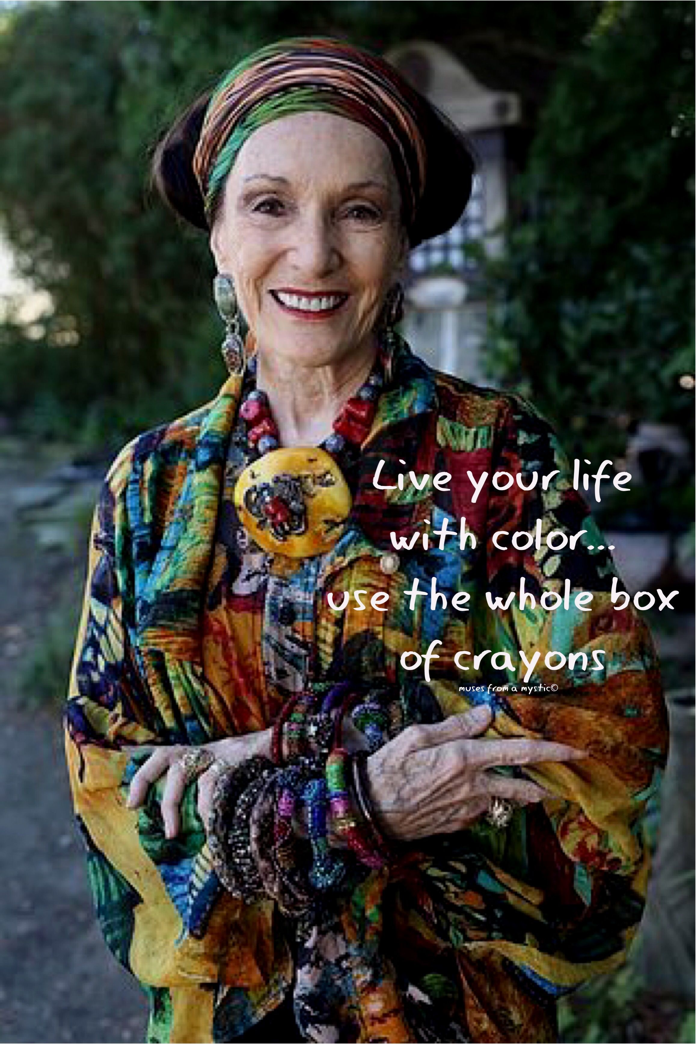 Live your life with color... #aginggracefully