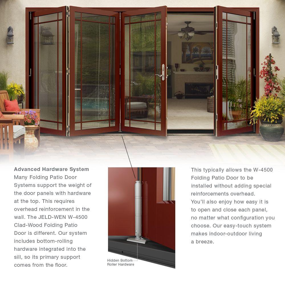 Folding Patio Doors Jeld Wen Classic Clear Glass 72 In. X 80 In.