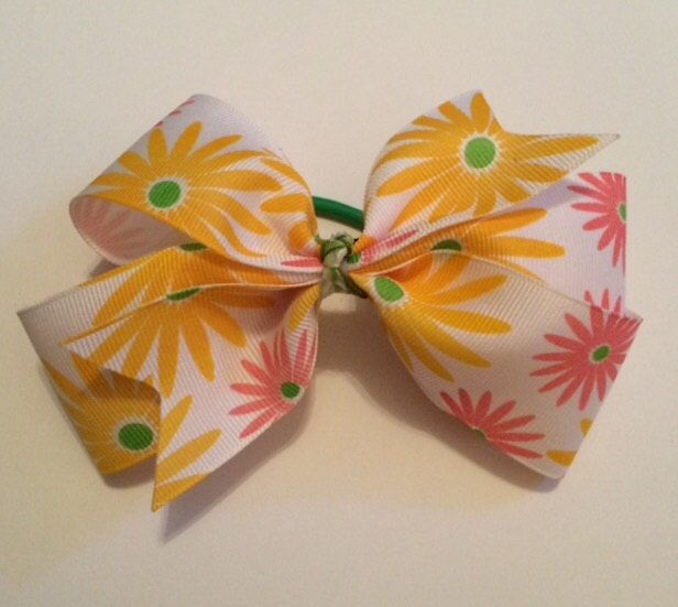 A personal favorite from my Etsy shop https://www.etsy.com/listing/214404852/5-pinwheel-hair-bow