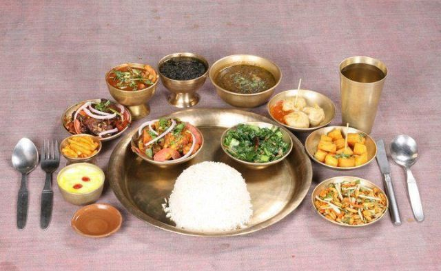 Nepal typical meal ...