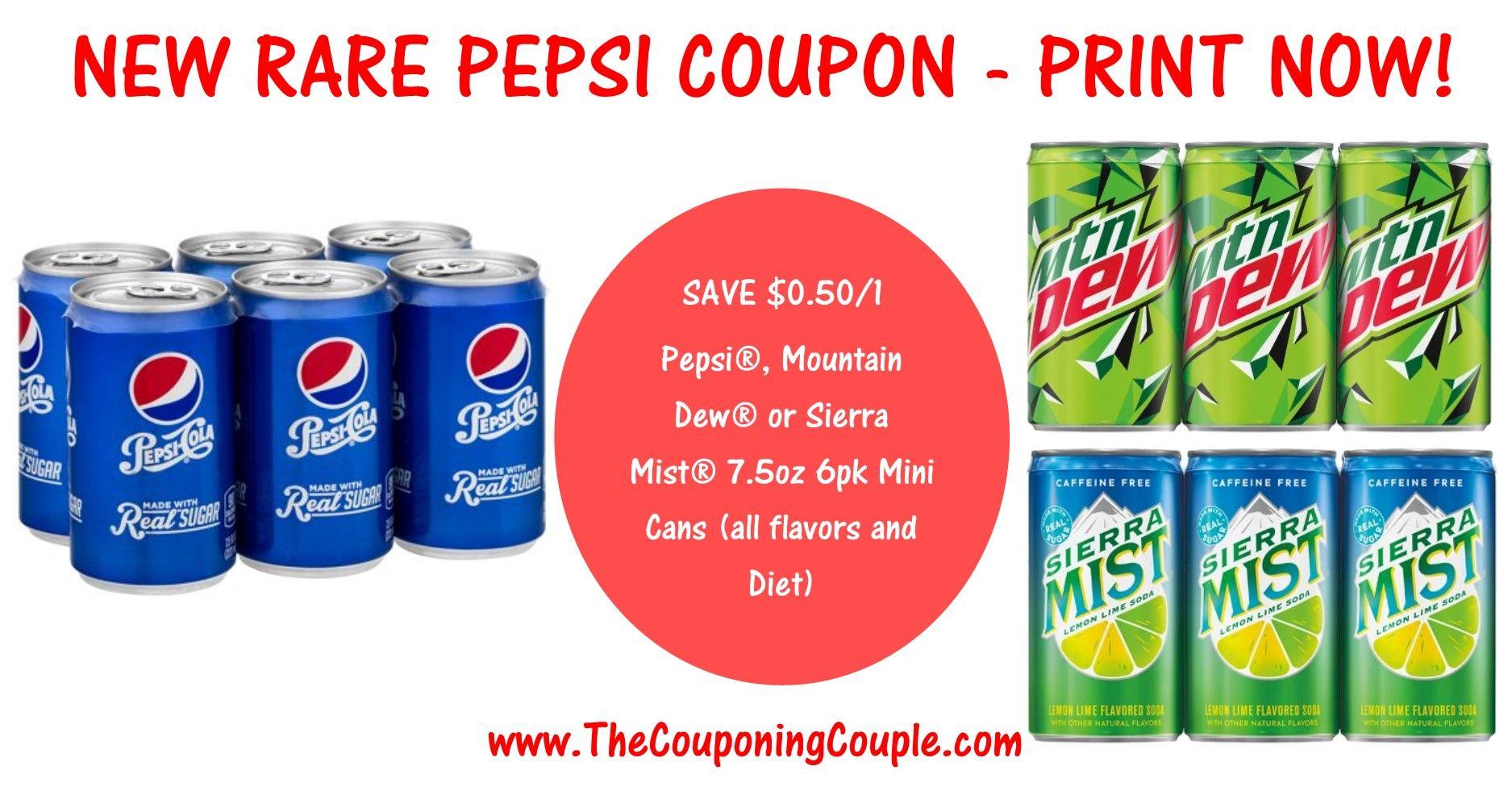 New Rare Pepsi Printable Coupon Print Now Print Coupons Printable Coupons Product Rule