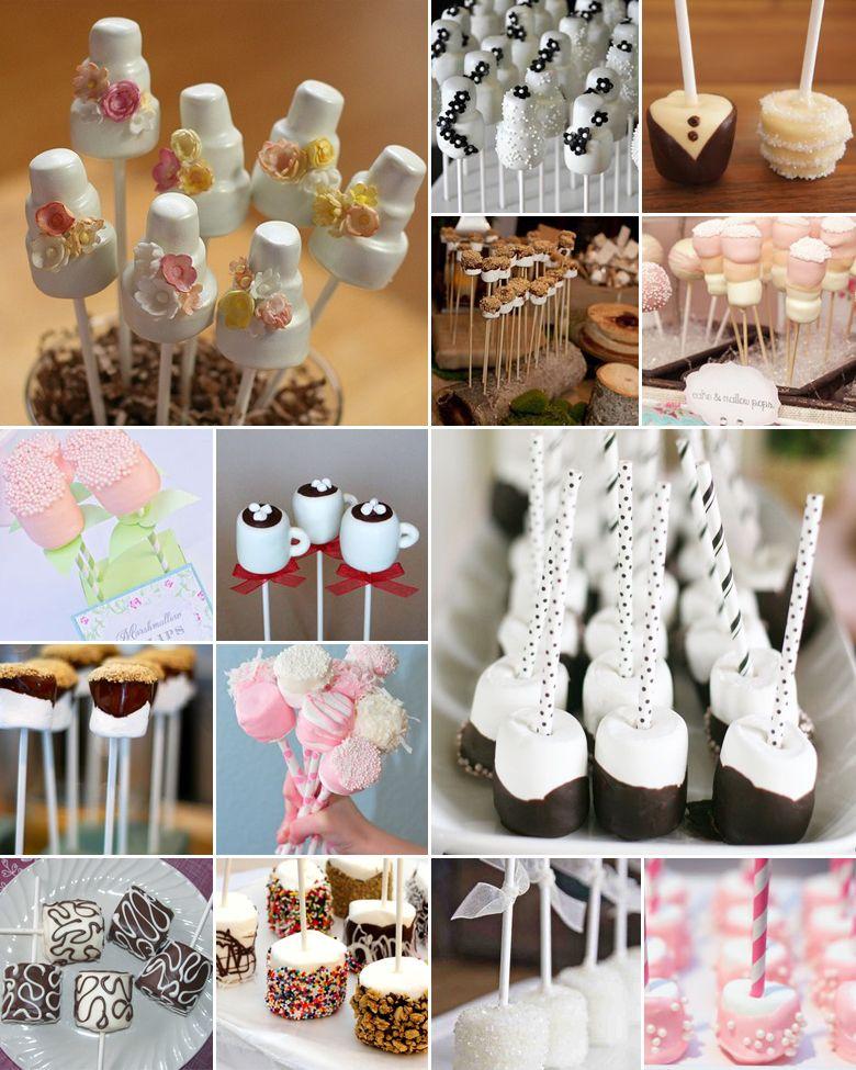 Diy Marshmallow Wedding Cake Pops I Just Love Weddings