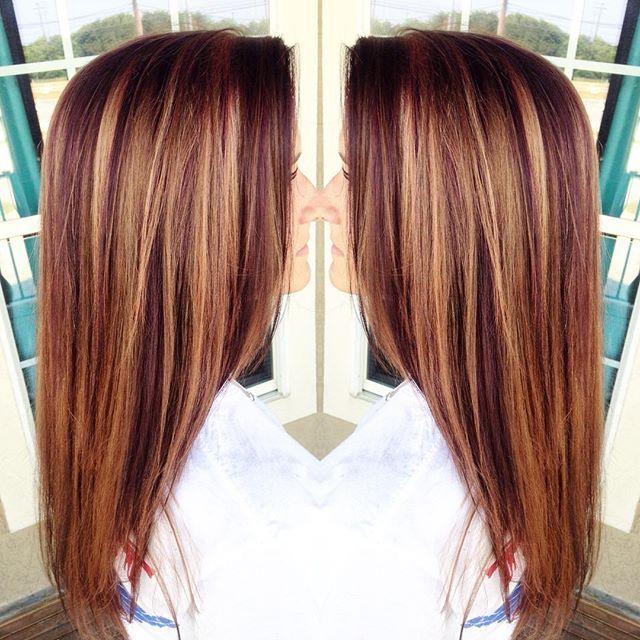 Caramel Auburn Lowlights For This Beauty Pretty Hair Pinterest
