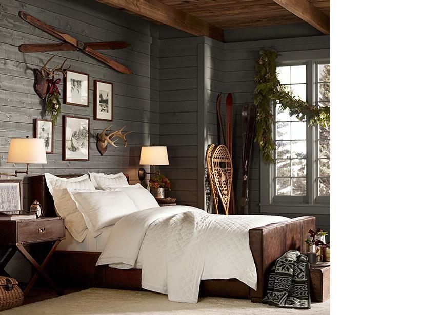 Dark grey walls with white bedding?