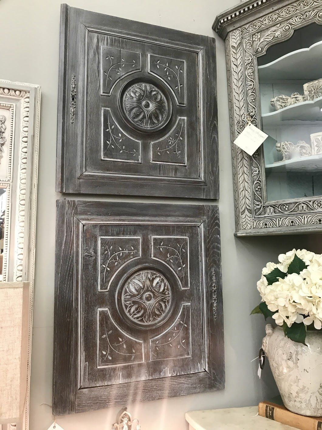 Carved Cabinet Doors With Original Hardware Set Of Two 22 5 Wide X 25 5 High 395 Grace Designs At Forestwood Antique Mall Antiques Vintage Furniture