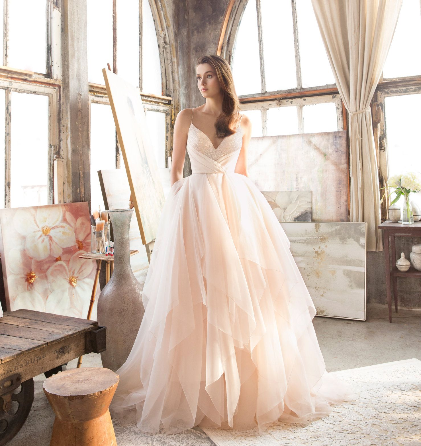 Tara Keely by Lazaro bridal gown - Ivory silk organza and tulle ...