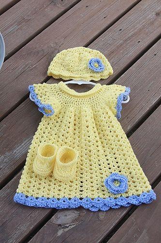 Ravelry: myknitsnpearls\' Angel Wings Pinafore   Crochet baby ...