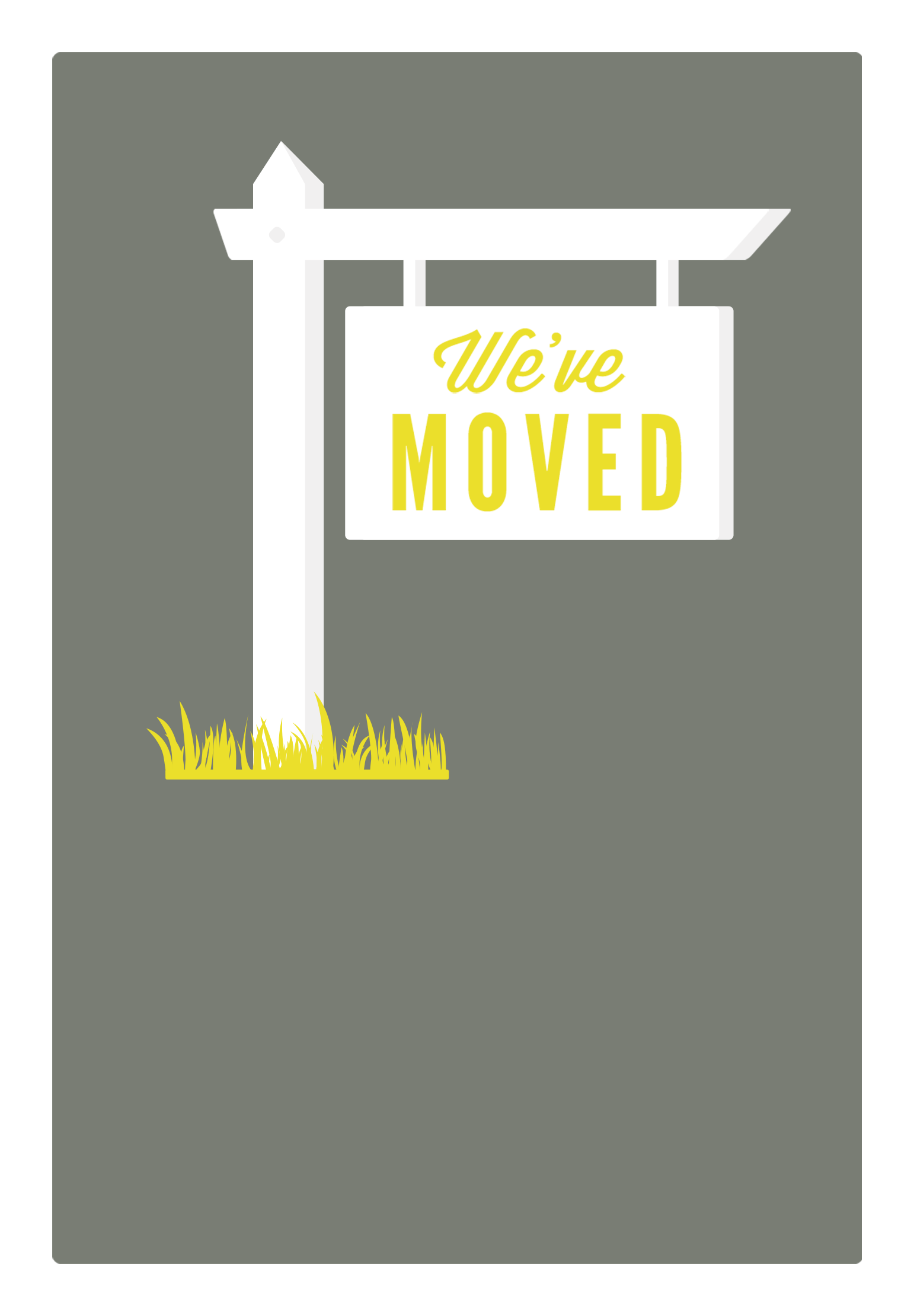 Sign Moving Announcement Template Free Greetings Island Moving Announcements Moving House Card Change Of Address Cards