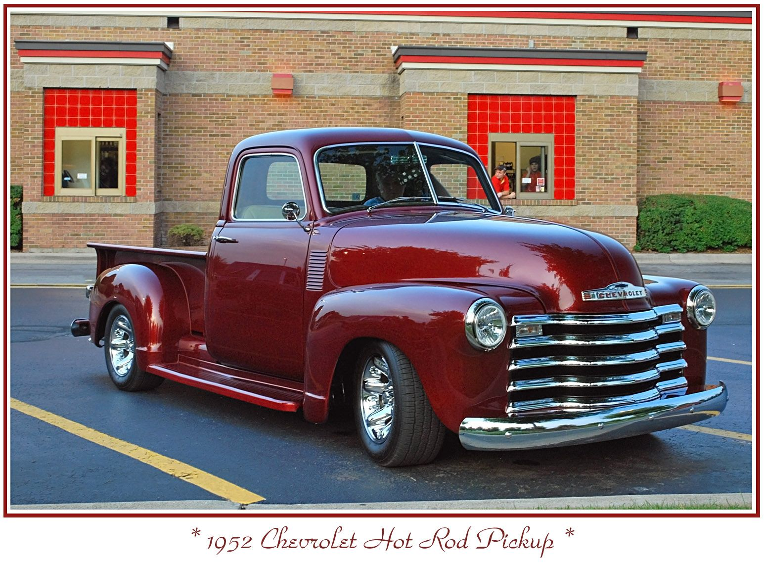 Candy Apple Red 1952 Chevy Pickup Vintage Pickup Trucks Car Tv Shows Chevrolet Pickup
