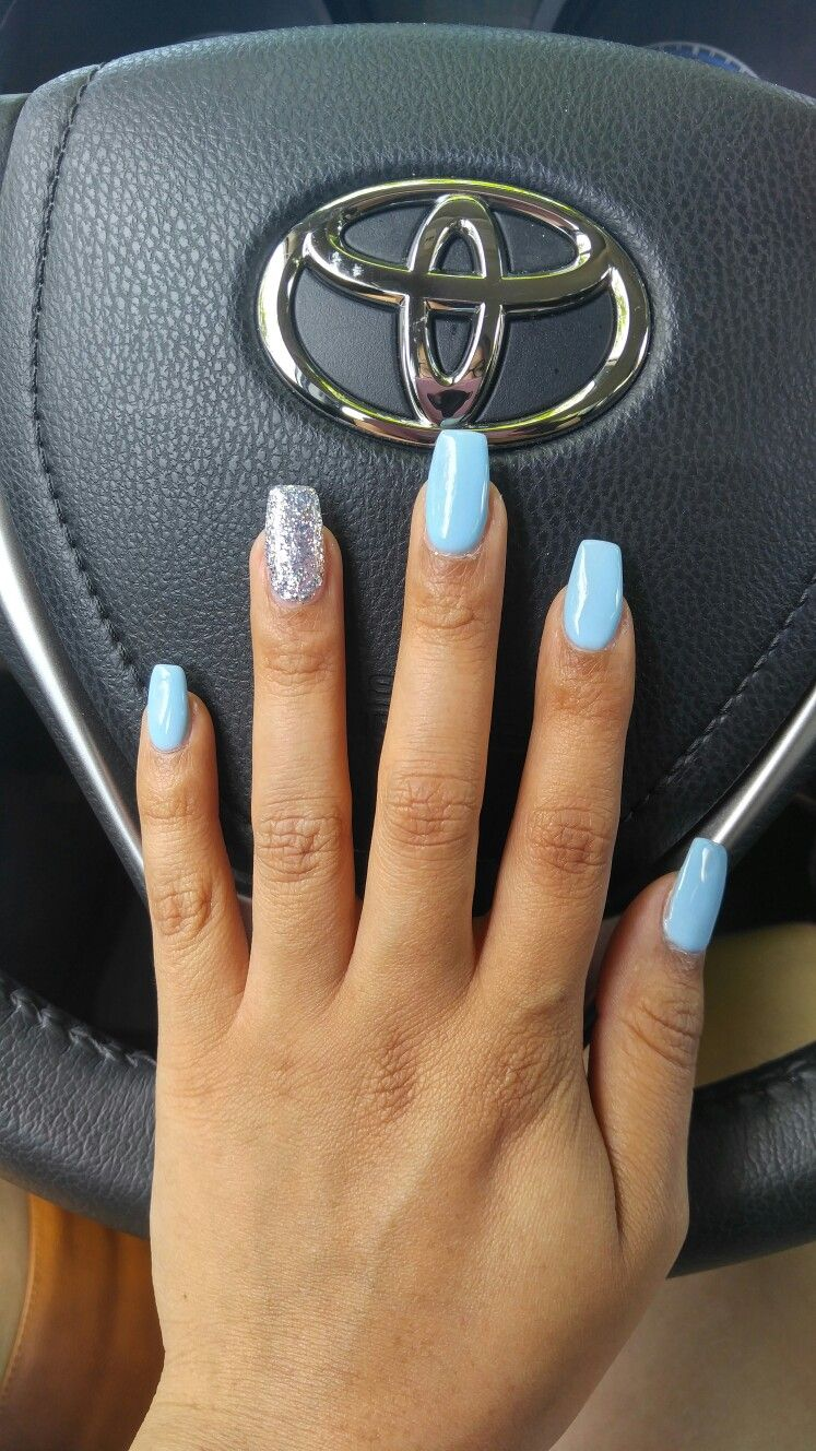 Baby Island blue & silver glitter | Nails in 2019 | Baby