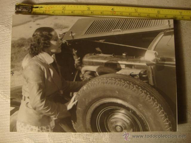 ANTIGUA FOTOGRAFIA ORIGINAL ACTRIZ MITO DEL CINE ESPAÑOL MARY DELGADO, AÑO 1939 HISTORICA