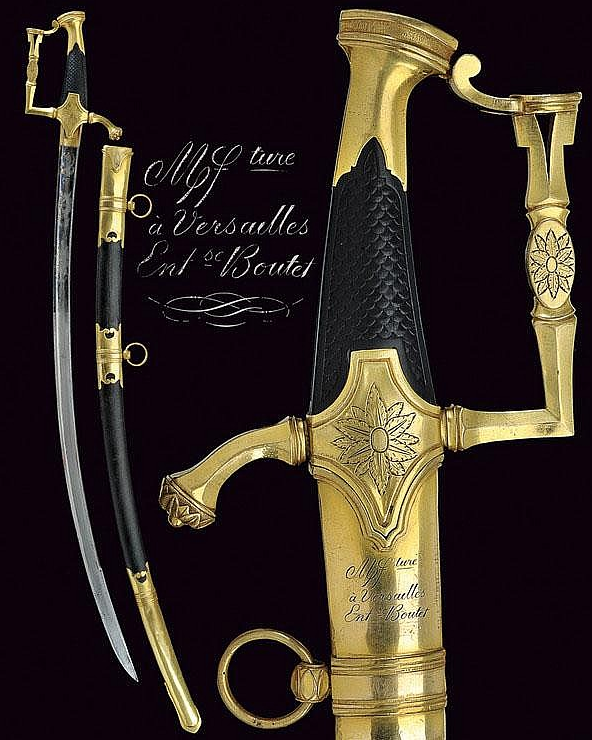 """"""" A very rare Boutet sabre,"""" This is one of the few sabres that Napoleon I offered to those officers who were with him on the day he was elected First Consul, the so-called """"Journée de Saint-Cloud - 18 Brumaire AN VIII"""".   dating: circa 1800   dimensions: 96 cm.   provenance: Paris"""