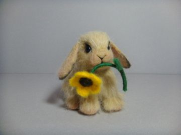 Needle Felted Lop Eared Bunny