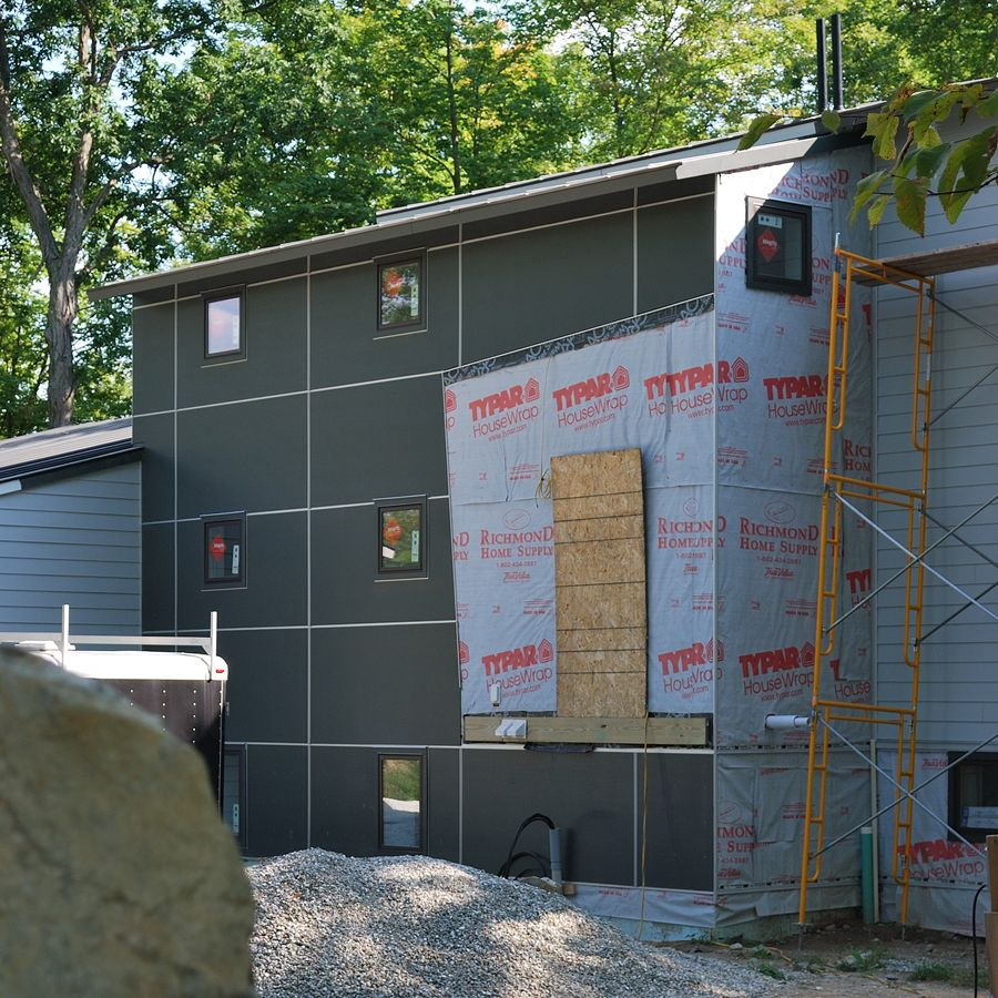 modern cement board siding low cost housing Pinterest Cement