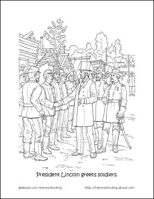 civil war coloring pages - American Civil War Coloring Pages