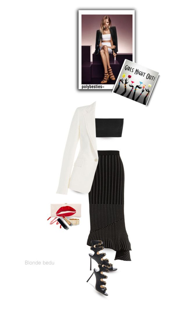 """""""That's a terrible idea... What time?"""" by blonde-bedu ❤ liked on Polyvore featuring Jimmy Choo, Kevyn Aucoin, Balmain, Jonathan Simkhai, Maison Margiela, Eddie Borgo, Roger Vivier and Chanel"""