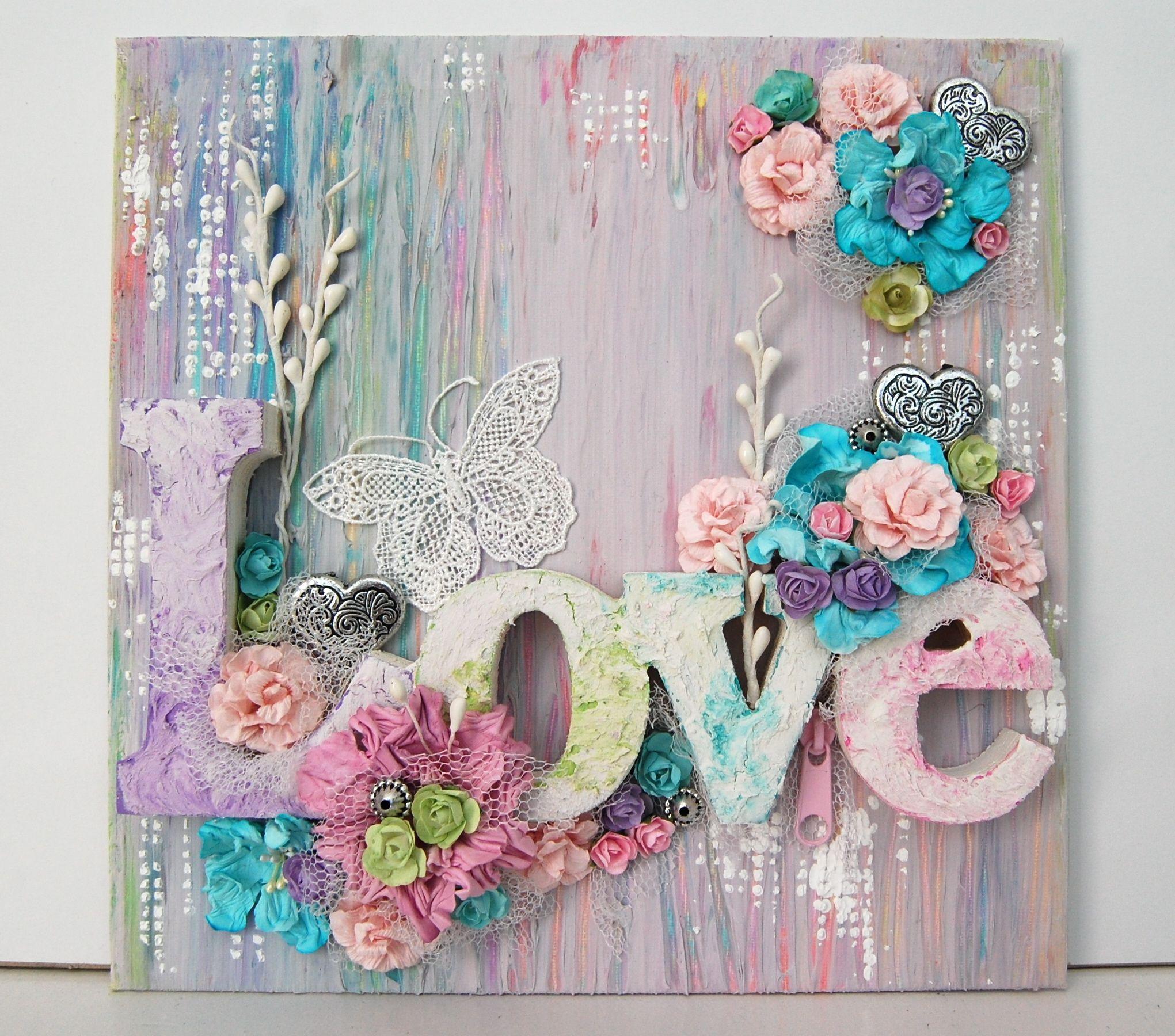 Scrapbook ideas on canvas - Love Canvas 13 Arts Scrapbook Com