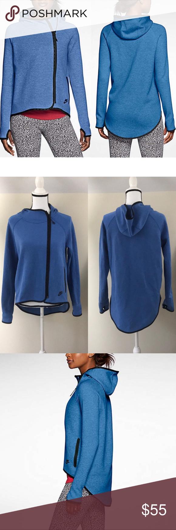 Nike Tech Fleece Cape in Blue Sz S🌺 Tech fleece, Nike