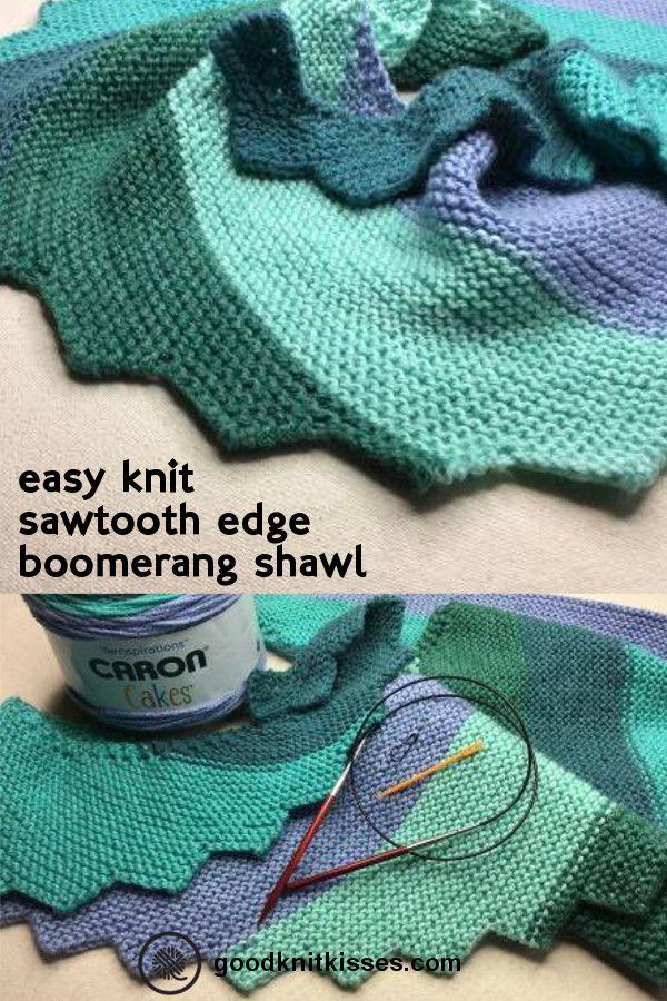 Step It Up Knit Shawl | Patrones libres de ganchillo, Chal y Tejido