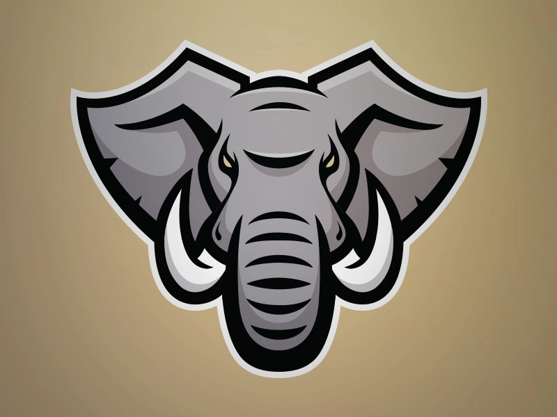 Pin By Vian Engenharia Blog On Game Elephant Logo Elephant Logo Design Elephant