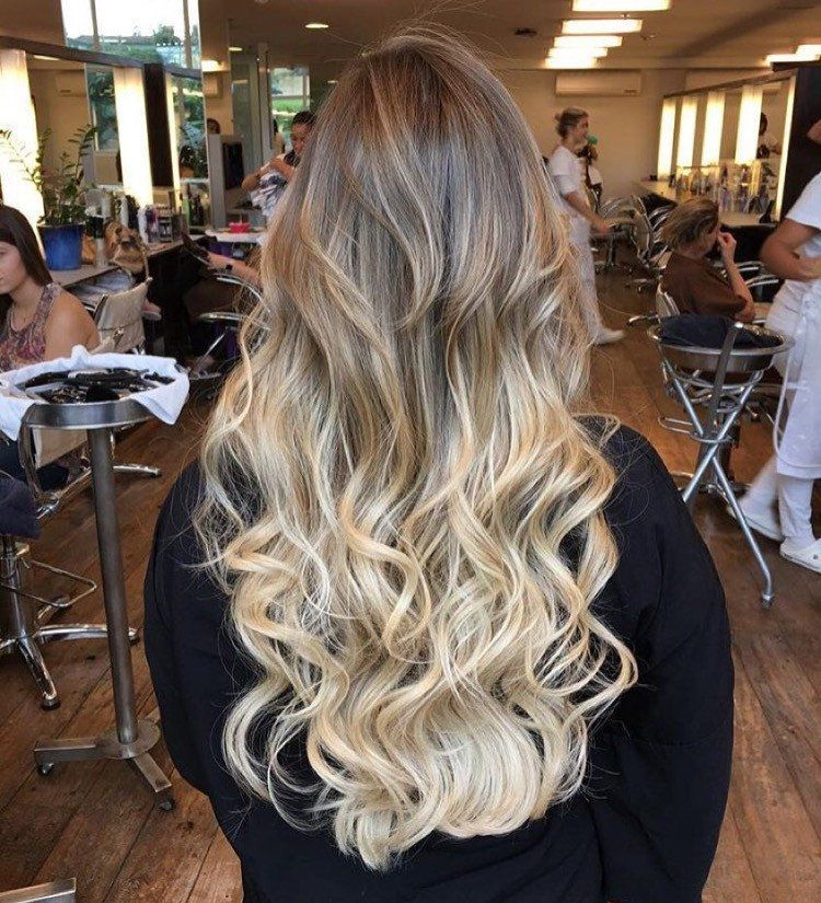 Ash Brown Platinum Beach Blonde Ombre Hair Extensions Glam