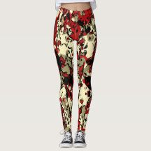 Red Green Yellow Camouflage Pattern Womens Leggings!  Style: Leggings Style AND comfort can both be king in one perfect pair of custom leggings. Custom made with care, each pair of leggings is printed before being sewn, allowing for fun designs on every square inch.  Medium weight fabric is sturdy, yet breathable, stretches to fit your body, hugs in all the right places and bounces back after washing. You can wear your leggings over and over and they won't lose their shape. Get comfy and…