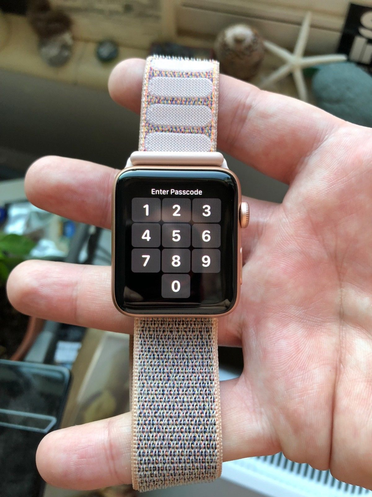 newest collection ebbd3 4b9da Apple Watch Series 3 Gold 42mm Cellular Aluminum Case with Pink Sand ...
