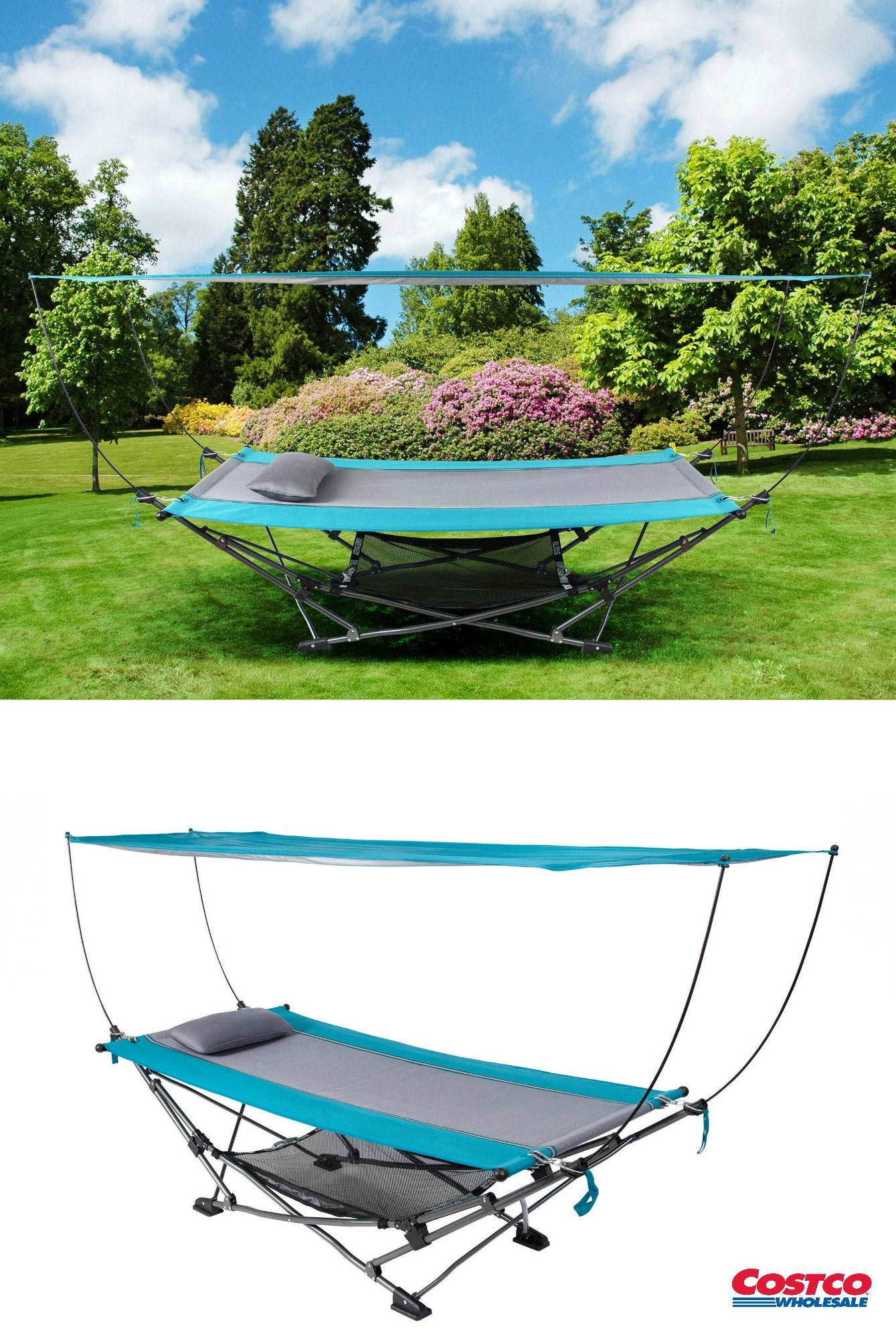 This Folding Hammock With Canopy Sets Up In Minutes Making It