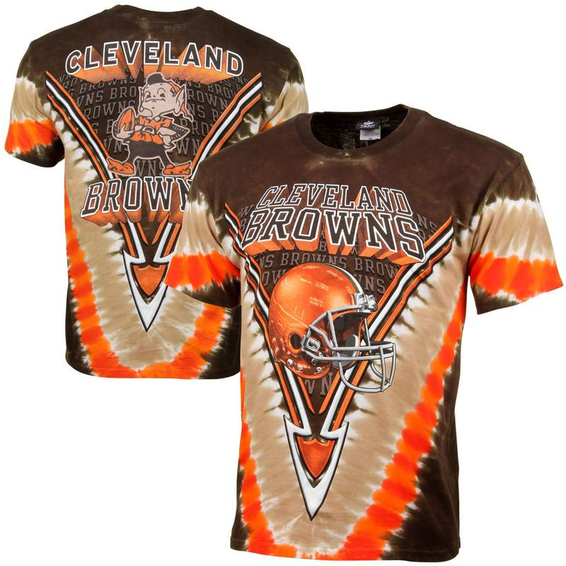 044a02ac Cleveland Browns Majestic V Tie-Dye T-Shirt – Brown | Products | Tie ...
