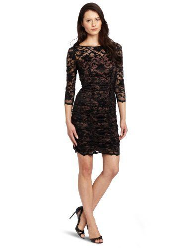 8f89fceb6b Eliza J Women's 3/4 Sleeve Ruched Lace Dress Eliza J | Clothes ...