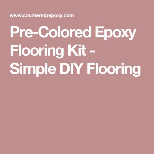 Pre-Colored Epoxy Flooring Kit - Simple DIY Flooring