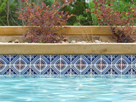 National Pool Tile Iberia Series Pool Tile | Royal Blue Print ...
