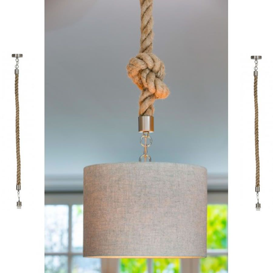 Deckenlampe Maritim Buy Rope Pendants To Jazz Up Those Boring Wires Then Attach A