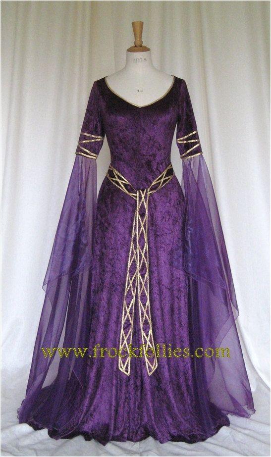 Eva un vestido de novia celta elfos Medieval por frockfollies ...