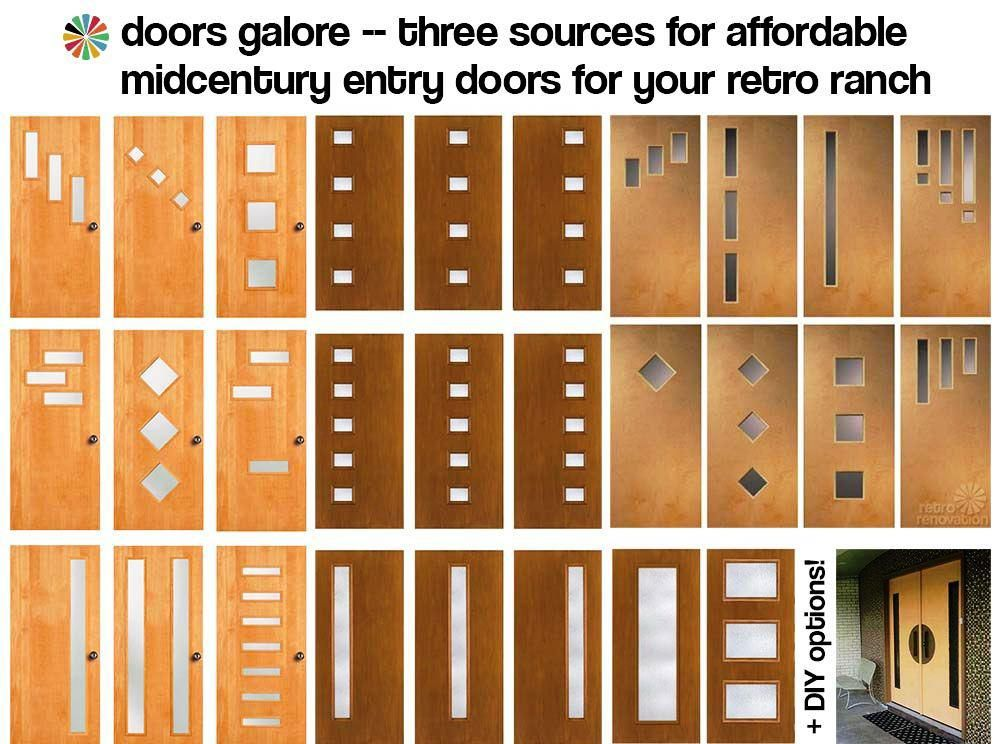 doors galore 8 places to find midcentury modern entry doors diy tips retro renovation