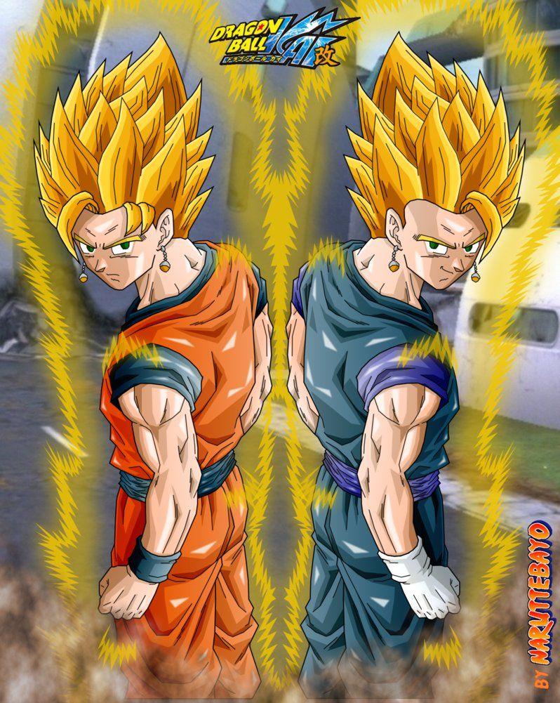 Gokhan Vegehan Double Fusion Back Pose Ssj By Naruttebayo67 On Deviantart Dragon Ball Dragon Ball Art Dragon Ball Z