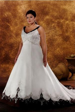 Red And Black Wedding Gowns For Large Women Cheap Plus Size Brides