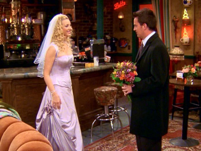 FRIENDS Season Episode The One With Phoebes Wedding Chandler You Look Beautiful But Wont Be Cold Phoebe I Dont Care Ill My Something