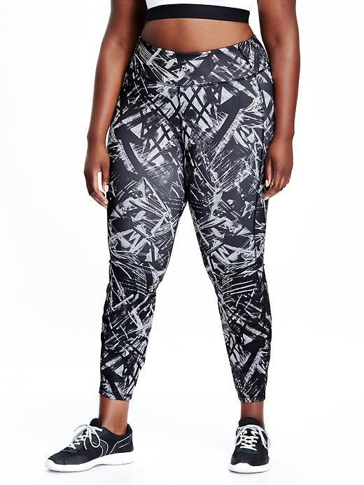 Patterned Compression PlusSize LeggingsActivewear Post Lots Of Awesome Plus Size Patterned Leggings