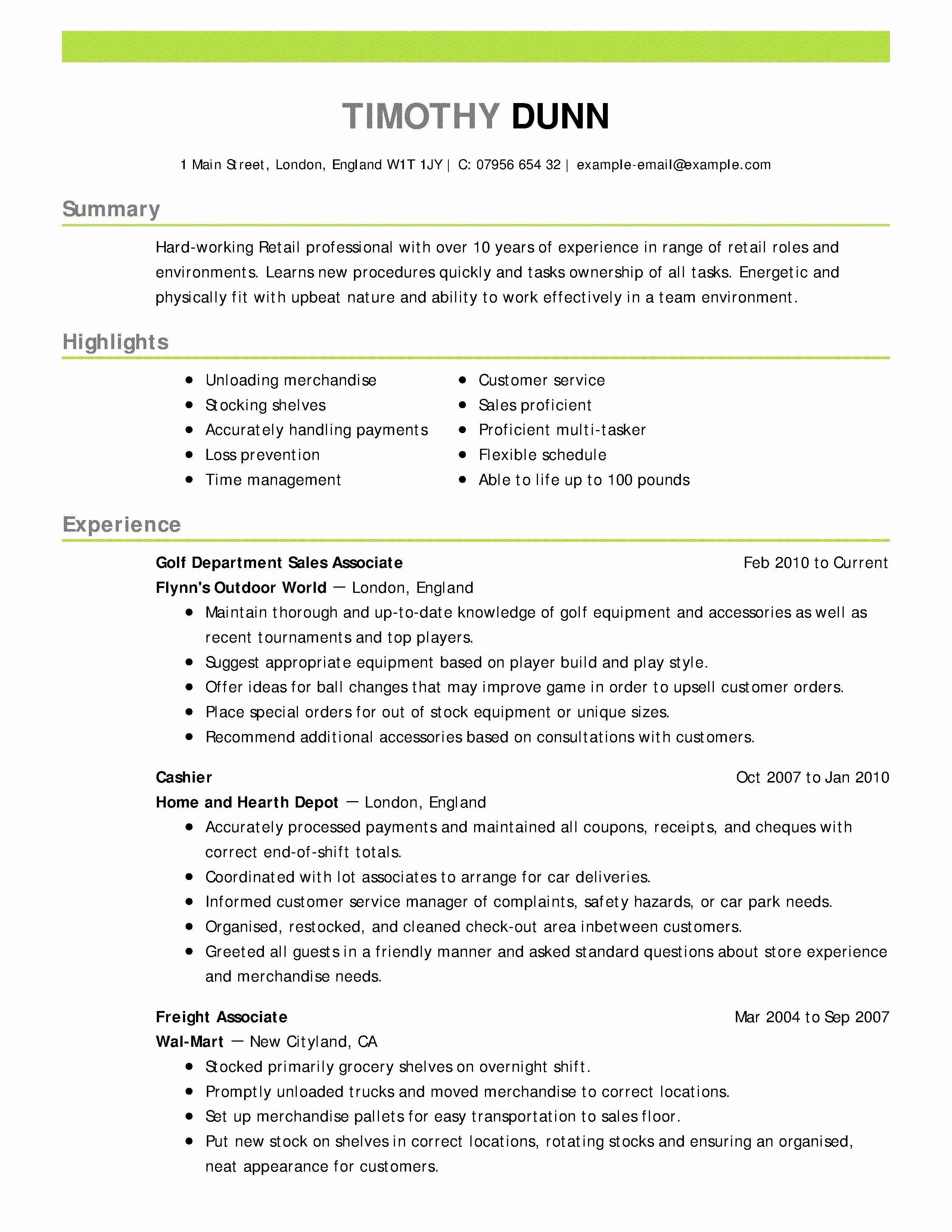 Entry Level Engineering Resume Fresh Skills Summary Resume