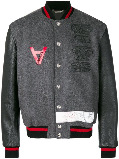 08d38596c67e Versace embroidered bomber jacket | Versace | Versace jacket ...