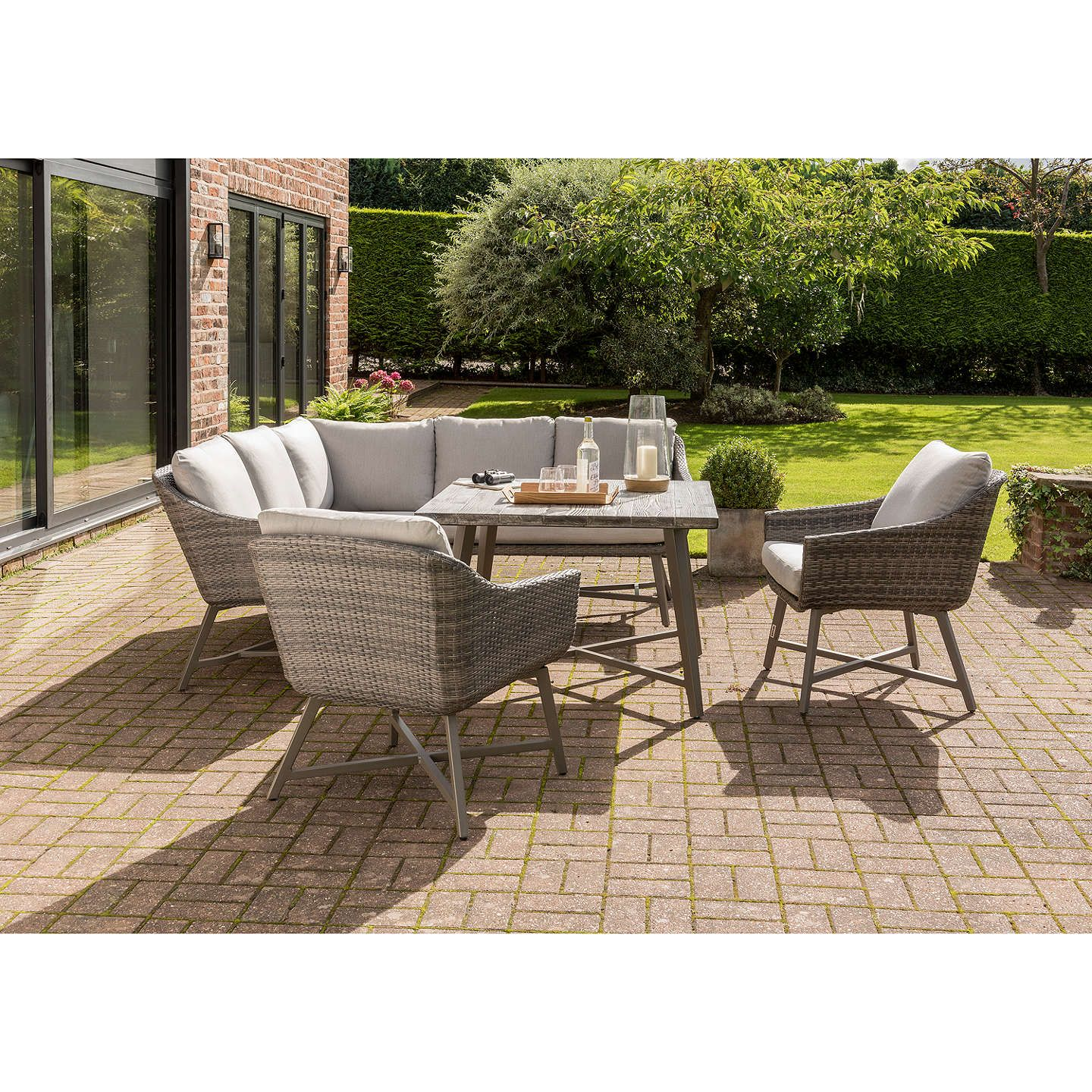KETTLER LaMode Garden Lounging Corner Table and Chairs Set ...
