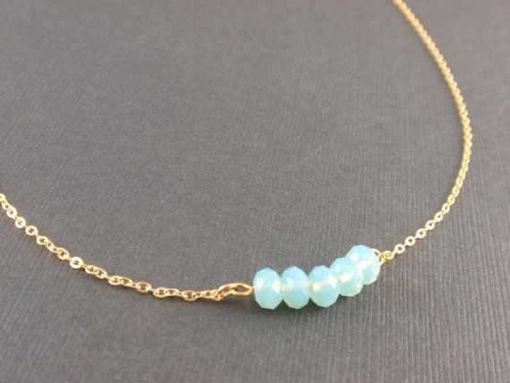 Pacific Opal crystal 14K Gold filled Necklace