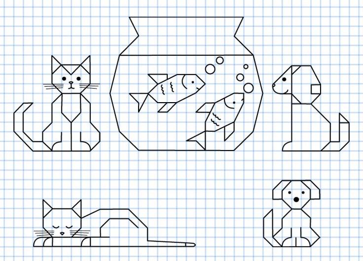 Reproduction Sur Quadrillage Animaux Matematika Pinterest
