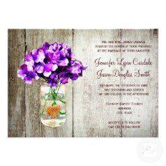 #SOLD a set of Country Mason Jar Hydrangea Wedding Invitations on #Zazzle #wedding