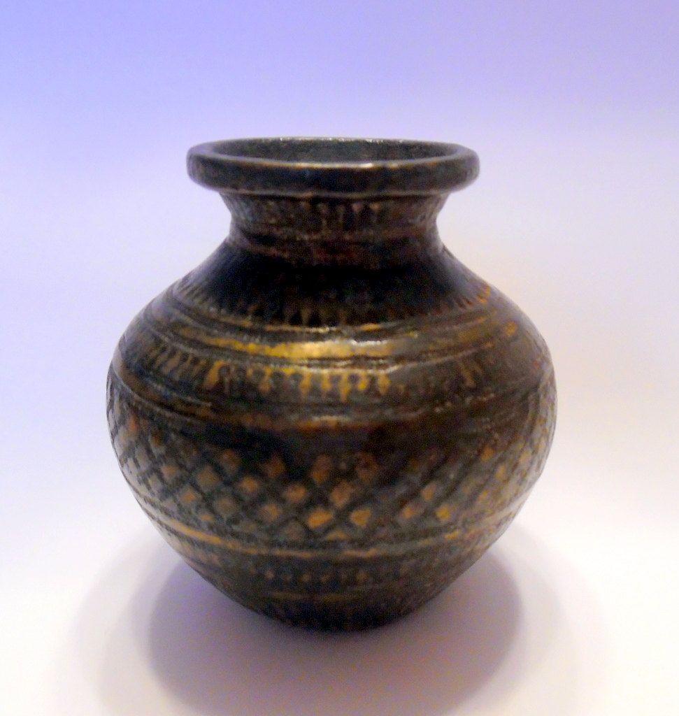 Miniature brass vase middle eastern persian india hammered design miniature brass vase middle eastern persian india hammered design antique crude mixed metal mini urn reviewsmspy