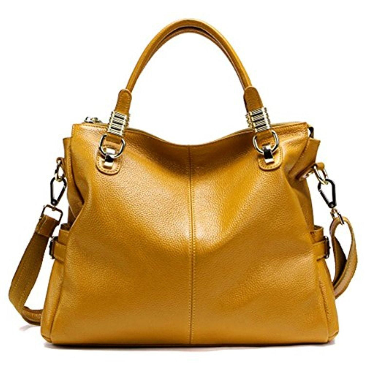 Fablight Women s Genuine Leather Large Top-Handle Shoulder Bag Cross Body  Tote Hobo Handbag - Brought to you by Avarsha.com c10b0f1502